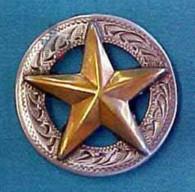 "Star Concho Engraved Border 1-1/4"""