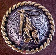 Western Rodeo Calf Roper Concho