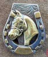 Western Horse & Horseshoe Concho