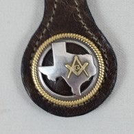 Texas Masonic Key Fob Brown