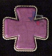 Stone Cross Purple Bling Conchos