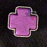 Stone Cross Purple Bling Concho