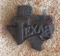 State Of Texas With Nail Cast Iron Texas Metal Art With Nail
