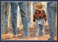 ART-LL-00002  Western Little Cowboy Children Print