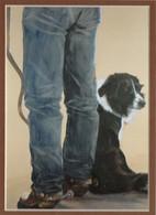 ART-JF-00001  Western Cowboy and Best Friend Print