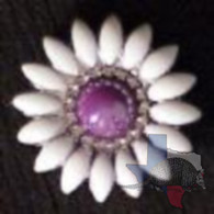 Purple Bling Daisy Concho