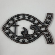 Cowboy Church Western Kitchen Table Trivet