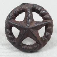 Cast Iron Star In Rope Circle With Nail