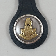 Masonic Past Master Key Fob Black