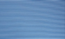 Blue White Stripe Ribbing LS