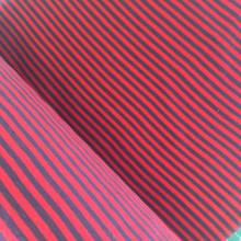 Navy & Red Stripe Ribbing