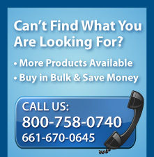 Can't find what you are looking for? More products available, Buy in Built & Save Money, Call Us: 1-800-758-0740 or 661-670-0645