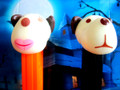 Barky Brown and Barkina Halloween 2010 Boxed set Glow heads
