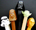 Star Wars Retired Original 5 Set of Pez MINT on Canadian Cards