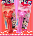 Mickey and Minnie Mouse Pez Lipstick SET from Japan