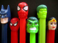 Retired Superhero Pez, mint, loose