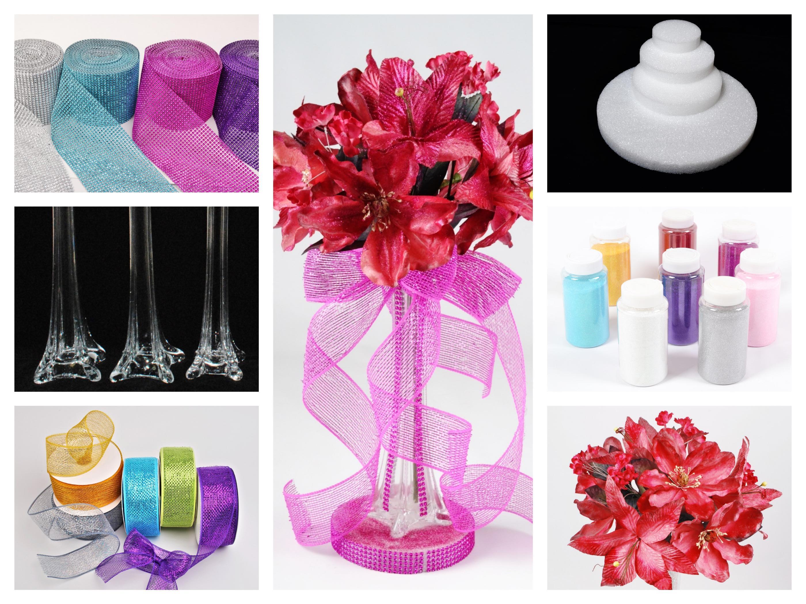 Diy quot latex flower inside vase dq quinceanera mall