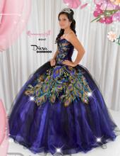 Quinceanera Peacock Dress #10147JES