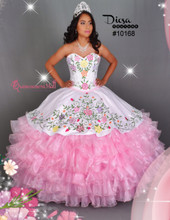 Multi Color Flowers Quinceanera Dress #10168JES
