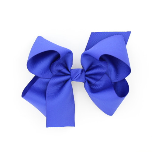 """Item no         : egch, Size              : 7.5""""X6"""" Color            : Royal Blue Center          : Cone Ribbon Size : 2 1/4""""  Type of Clip : French Clip   Made in USA"""