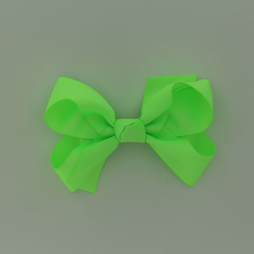 """Item no.: dgcs, Size: 6""""X5"""", Color: Neon Green,  Ribbon Size: 1 1/2"""", Center: Cone,   Type of Clip: French Clip        MADE IN USA"""