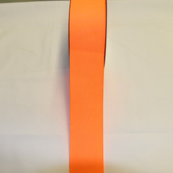 "Size     : 2 1/4"" Color    : Neon Orange Type    : Grosgrain Length : 50 yard/spool"