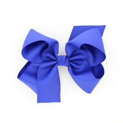 "Item no         : egch, Size              : 7.5""X6"" Color            : Royal Blue Center          : Cone Ribbon Size : 2 1/4""  Type of Clip : French Clip   Made in USA"