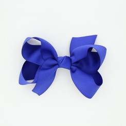 "Item no.: dgch, Size: 6""X5"", Color: Royal Blue,  Ribbon Size: 1 1/2"", Center: Cone,   Type of Clip: French Clip        MADE IN USA"