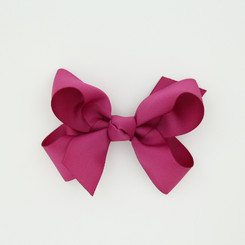 """Item no.: dgcs, Size: 6""""X5"""", Color: Raspberry,  Ribbon Size: 1 1/2"""", Center: Cone,   Type of Clip: French Clip        MADE IN USA"""