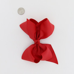 """Large 2 1/4"""" Ribbon Bow Imported Aligator Clip REd"""