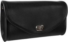 True Element TEBU88001BCL Genuine Leather Motorcycle Windshield Bag (Black)