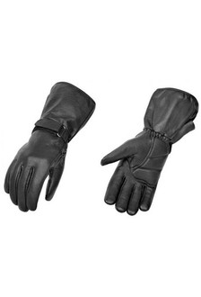True Element Mens Premium All-Weather Motorcycle Gauntlet Glove (Black, Sizes S-2XL)