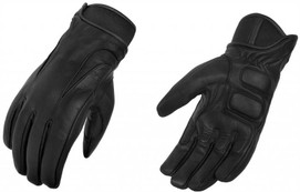 True Element Mens Motorcycle Driver Glove with Water Resistant Insert (Black, Sizes S-2XL)