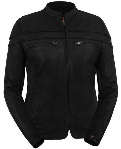 Womens leather motorcycle jacket sale