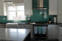 3 x 6 Teal subway tile