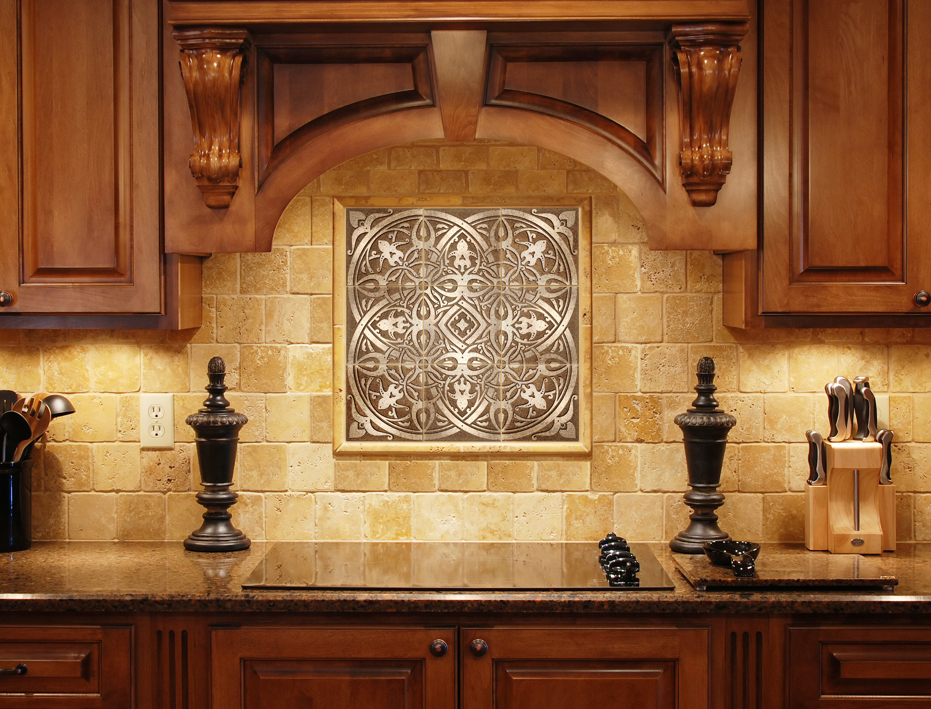 Kitchen Backsplash Plaques by BELK Tile
