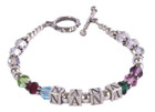 Bracelet, Personalized ... Sterling Silver and Swarovski Crystal