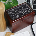 Personalized Chalkboard Recipe Box