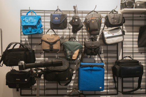 Camera Bags of all shapes and sizes