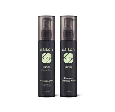 Saison | Spring Face Cleansing Duo Gift Set | Organic Skincare