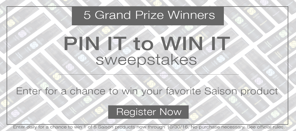 Saison Pin It To Win It Sweepstakes