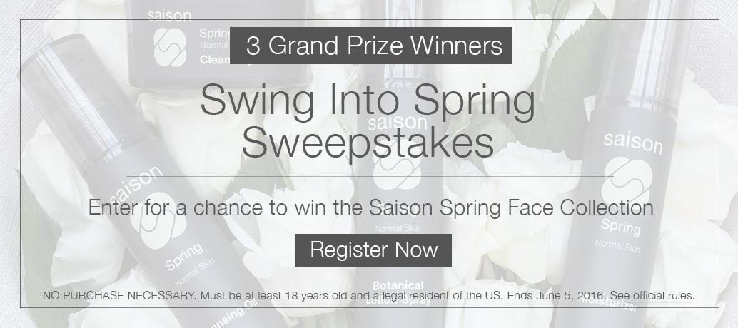 Saison Swing Into Spring Sweepstakes