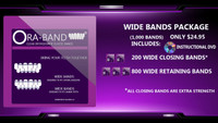 1,000 WIDE BANDS *Includes DVD, 200 EXTRA STRENGTH WIDE CLOSING BANDS and 800 WIDE RETAINING BANDS