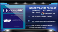 500 Narrow Bands (Includes DVD, 100 Extra Strength Narrow Closing Bands, 100 Small Narrow Closing Bands and 300 Narrow Retaining Bands