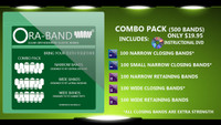 COMBO PACK - 500 BANDS (INCLUDES DVD, 100 EXTRA STRENGTH NARROW CLOSING BANDS, 100 EXTRA STRENGTH SMALL NARROW CLOSING BANDS, 100 NARROW RETAINING BANDS, 100 EXTRA STRENGTH WIDE CLOSING BANDS AND 100 WIDE RETAINING BANDS)