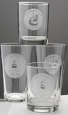 Etched Pint glass, Mad River Glen