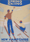 Spring Skiing Giclee Print