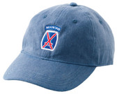 Cap, 10th Mountain Division, blue