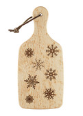 """Snowflake"" Wooden Cutting and Serving Board"