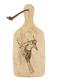 """Skier"" Wooden Serving and Cutting Board"
